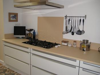 Lava kitchen worktop in our matt Vanilla glaze