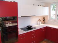 Lava worktop for kitchen in a matt white crackled glaze