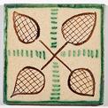 carreau décoré motif Palais des Papes peint à la main - Salernes