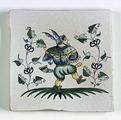 Carreau décoré Moustiers 1 peint à la main - Salernes