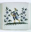 Carreau décoré Moustiers 4 peint à la main - Salernes
