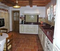 Plan de travail de cuisine en lave émaillée - couleur Bourgogne